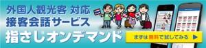外国人観光客対応接客会話サービス指さしオンデマンド