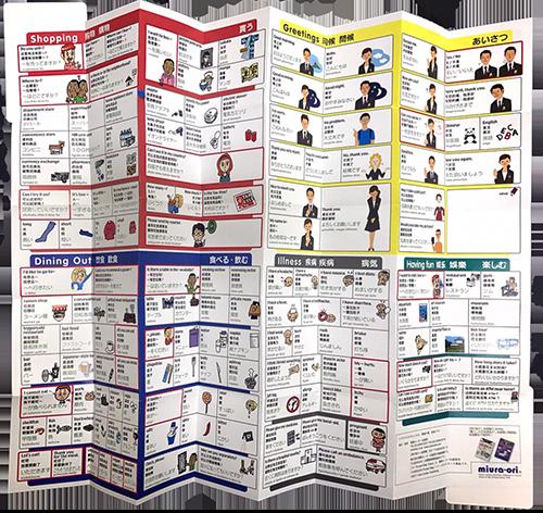 ホテル龍名館様 ミウラ折り版「指さしポケットマップ」表