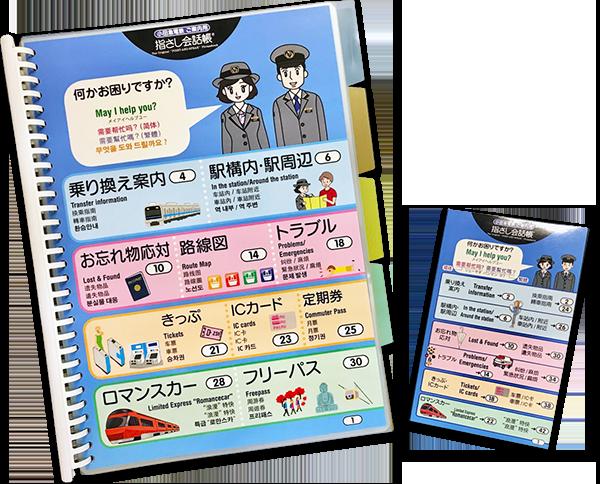 小田急電鉄株式会社様(接客指さし会話シート 冊子)