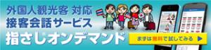 外国人観光客対応接客会話サービス 指さしオンデマンド