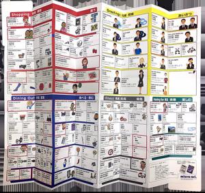 ホテル龍名館様 ミウラ折り版「指さし会話マップ」表